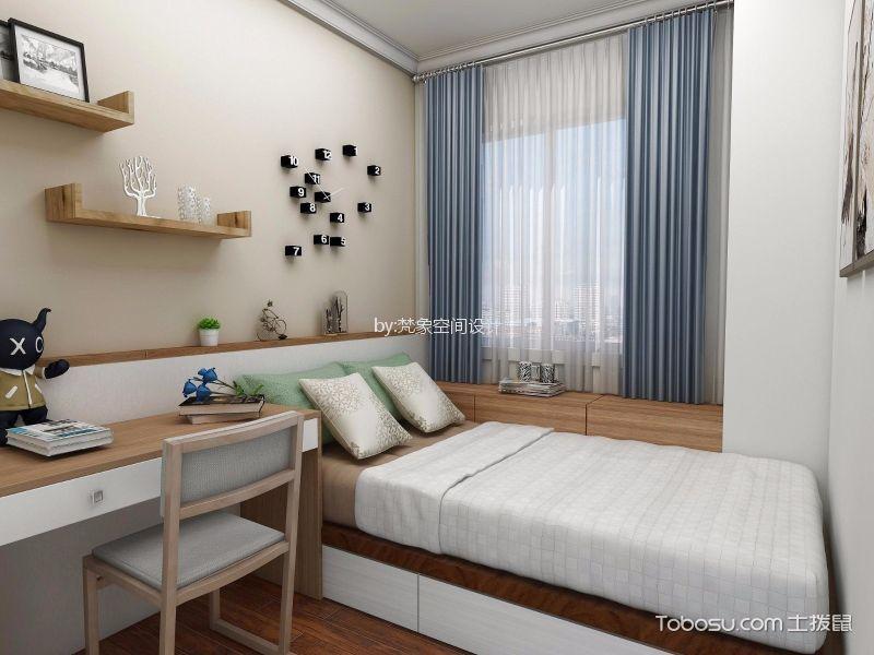卧室 榻榻米_30平方小复式北欧风装修效果图
