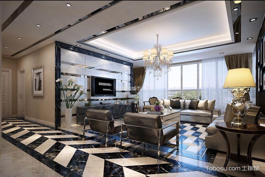 富丽紫金花园221平米现代风格大户型装修效果图
