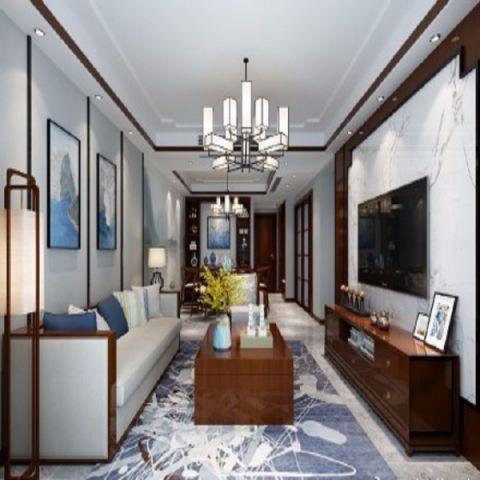 上海公館123平方中式三居室裝修效果圖