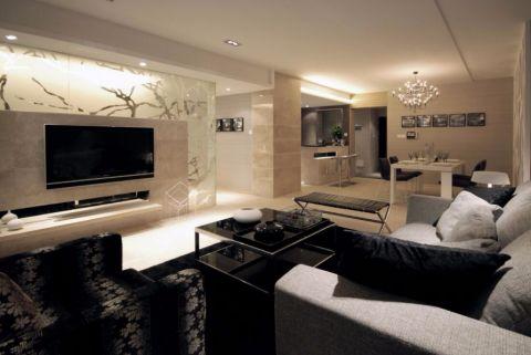 后现代风格四居室135平米装修效果图