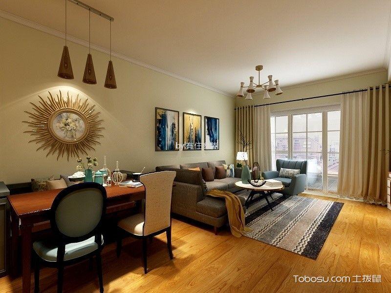 125平米休闲美式风格三室两厅装修效果图