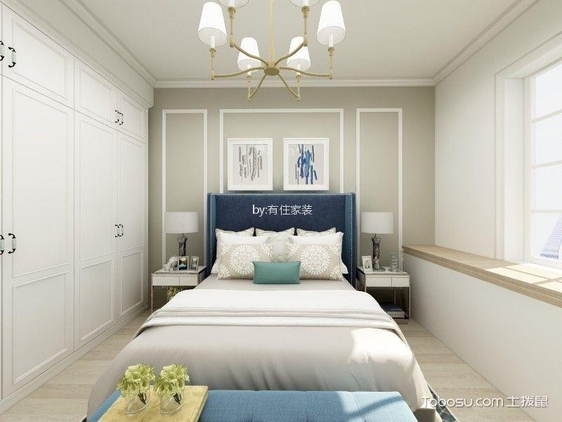 卧室背景墙美式风格装修设计图片图片