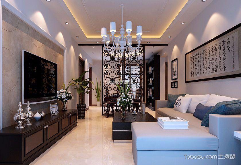 恒润雅筑95平米后现代风格二居室装修效果图