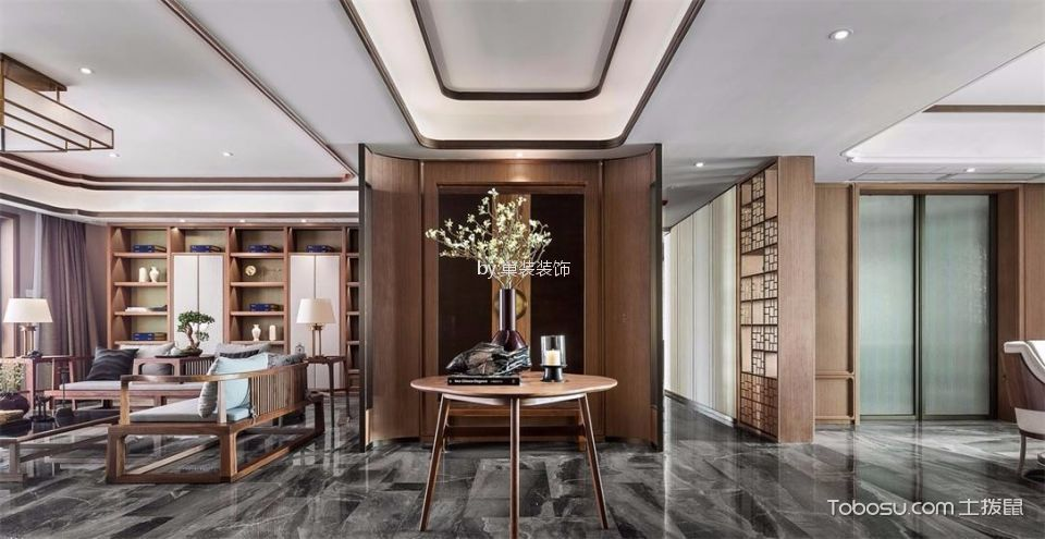 中式风格220平米别墅装修效果图