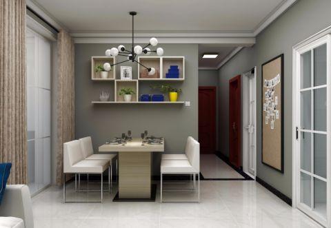 美轮美奂北欧灰色大理石餐桌装修方案