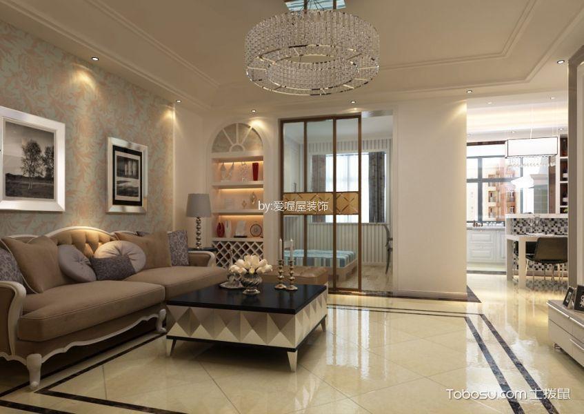 云步街小区120平米三室两厅简欧风格装修效果图