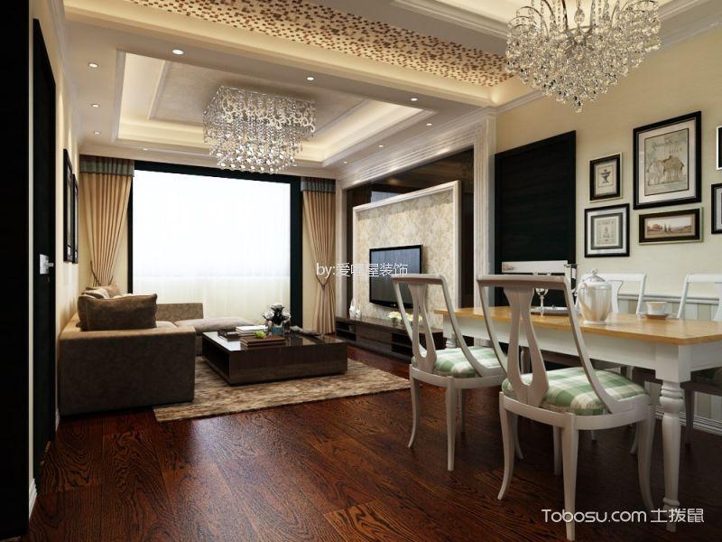 工商银行家属院160平米三室一厅装修效果图