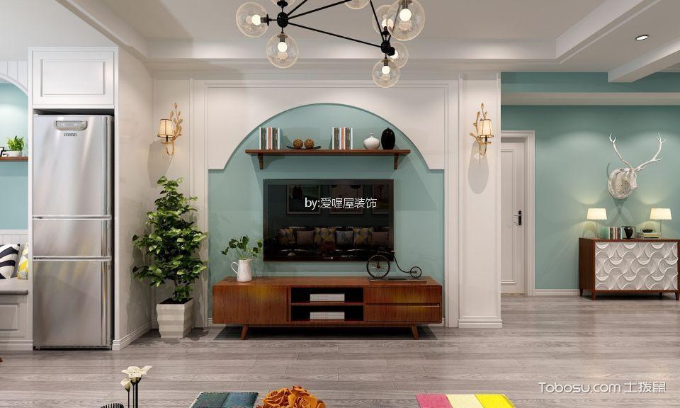 120㎡/美式/三居室装修设计