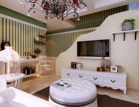 两室一厅80平米田园风格装修效果图