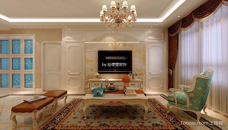 125平米简欧风格三居室装修效果图