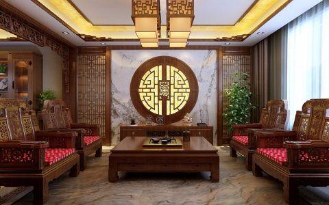 润景园著136平米中式风格三居室装修效果图