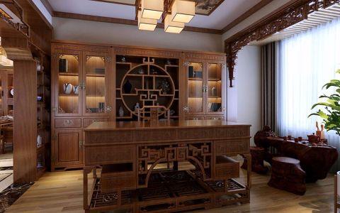 书房书桌中式风格装修效果图