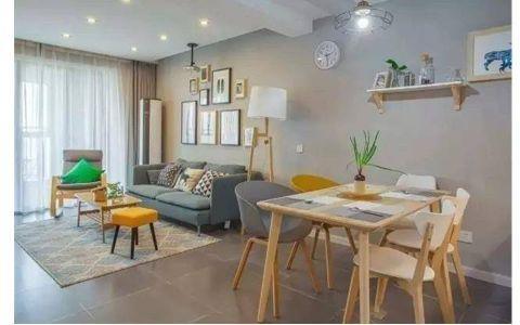2019简约90平米效果图 2019简约二居室装修设计