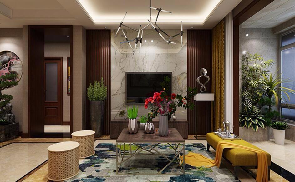 3室2卫2厅136平米新中式风格
