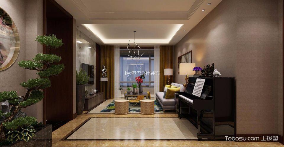 玄关米色地砖新中式风格装潢图片