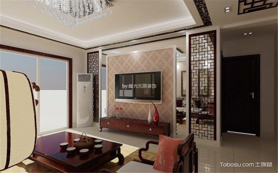 万豪西花苑120平米新中式风格3室装修效果图