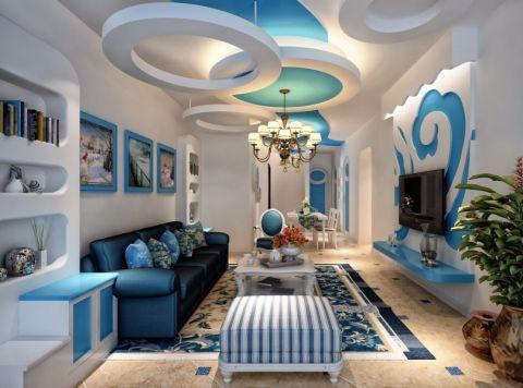 中海九玺90平米地中海2室装修效果图
