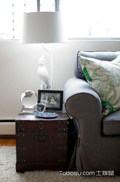 客厅白色灯具混搭风格装饰图片
