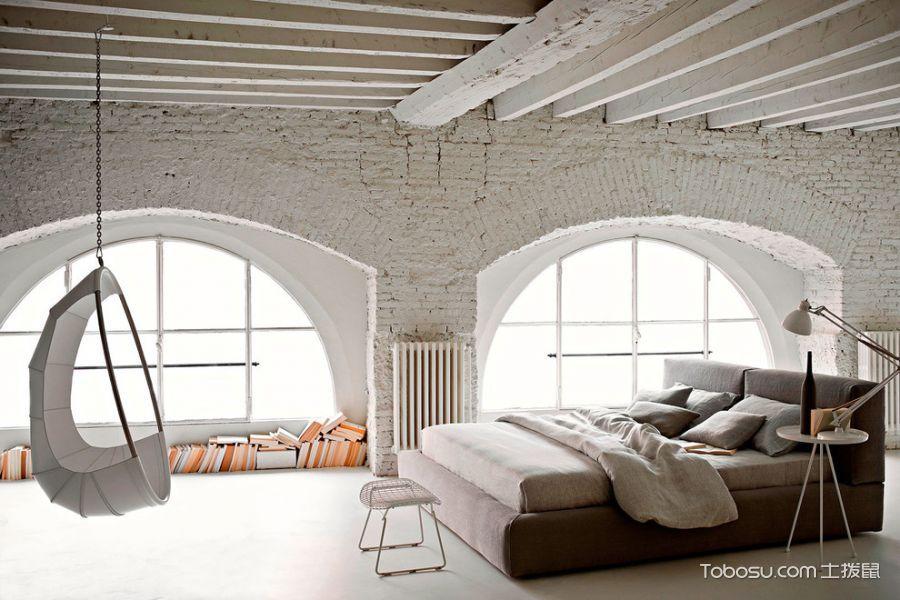 卧室灰色吊顶混搭风格装饰效果图