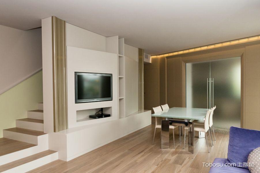 餐厅咖啡色地板砖现代风格装饰图片
