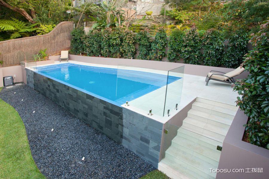 2019现代花园设计图片 2019现代泳池装修图片