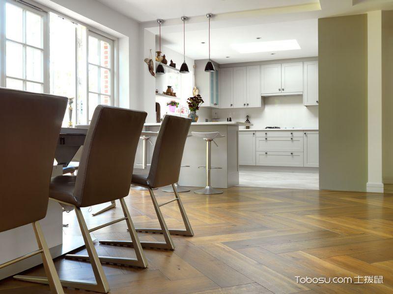 餐厅咖啡色地板砖现代风格装饰效果图