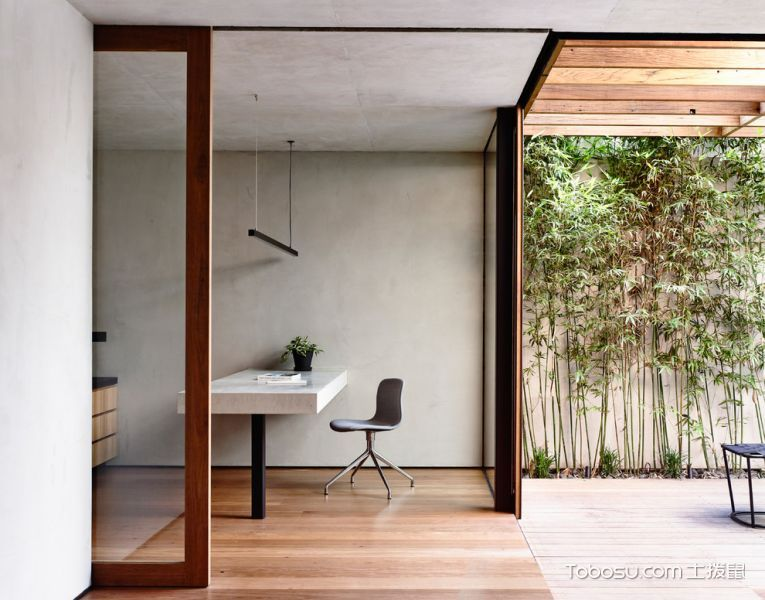 阳台咖啡色地板砖现代风格装饰图片