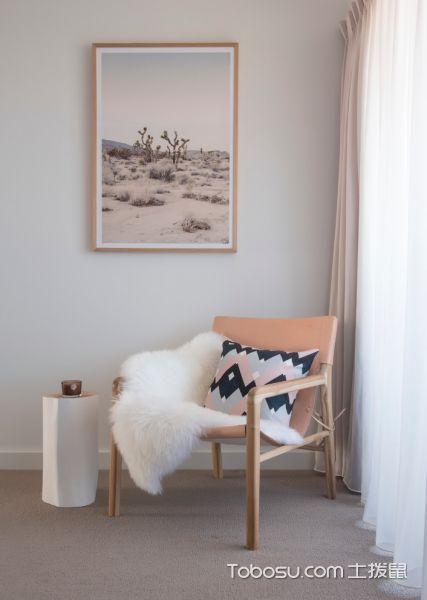 卧室灰色窗帘现代风格装潢效果图