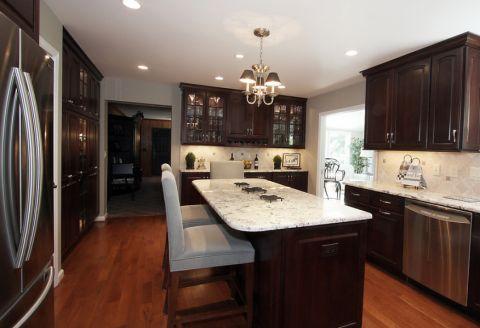 厨房美式风格效果图大全2017图片_土拨鼠优雅质朴厨房现代风格装修设计效果图欣赏