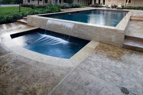 花园泳池现代风格装潢图片
