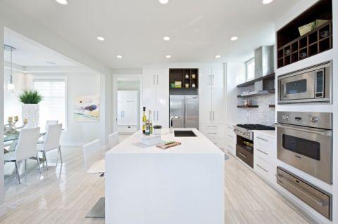 厨房现代风格效果图大全2017图片_土拨鼠豪华格调客厅现代风格装修设计效果图欣赏