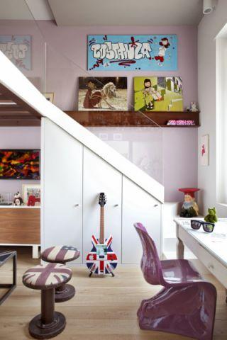 儿童房书桌混搭风格效果图