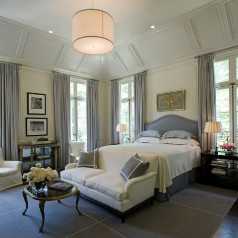 卧室美式风格效果图大全2017图片_土拨鼠个性淡雅书房美式风格装修设计效果图欣赏