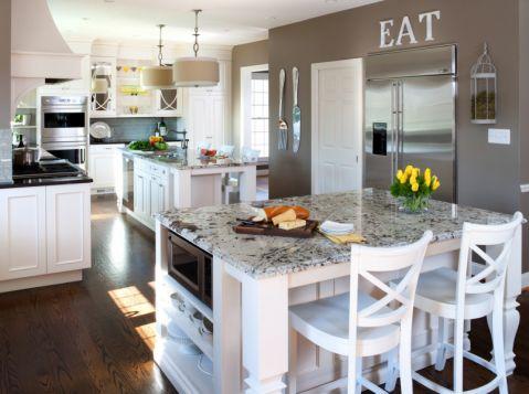 厨房美式风格效果图大全2017图片_土拨鼠温馨格调厨房美式风格装修设计效果图欣赏