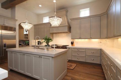 厨房地板砖现代风格装潢设计图片