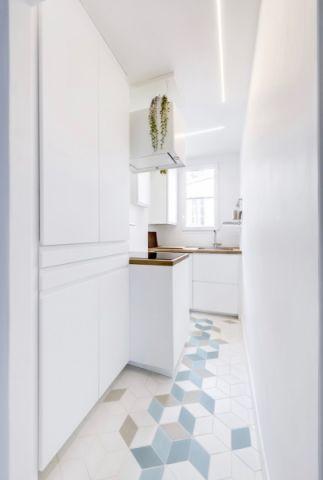 厨房地砖北欧风格装潢图片