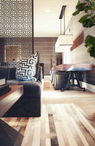 客厅隔断地中海风格装饰图片