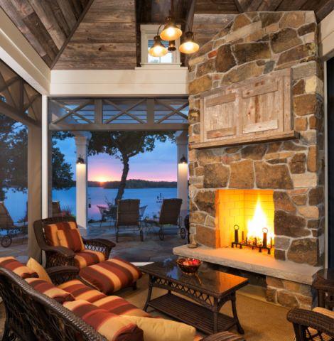 阳台沙发美式风格装修设计图片