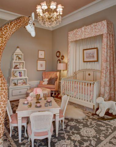 儿童房照片墙美式风格装饰图片