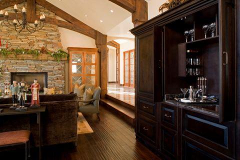 客厅地板砖美式风格装饰设计图片
