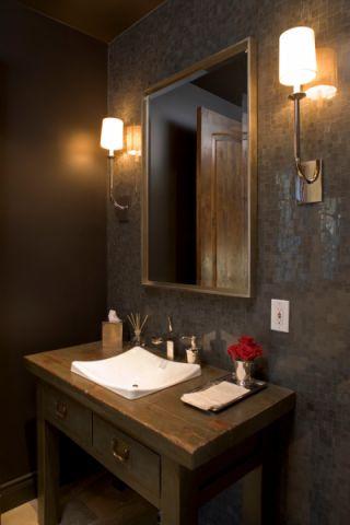 浴室背景墙美式风格装修效果图