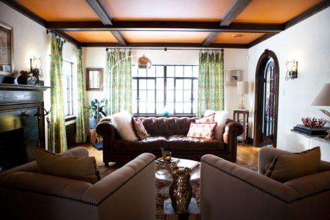 客厅混搭风格效果图大全2017图片_土拨鼠个性质感楼梯混搭风格装修设计效果图欣赏
