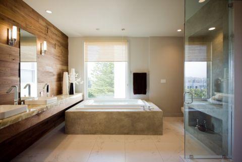 浴室现代风格效果图大全2017图片_土拨鼠清爽时尚浴室现代风格装修设计效果图欣赏