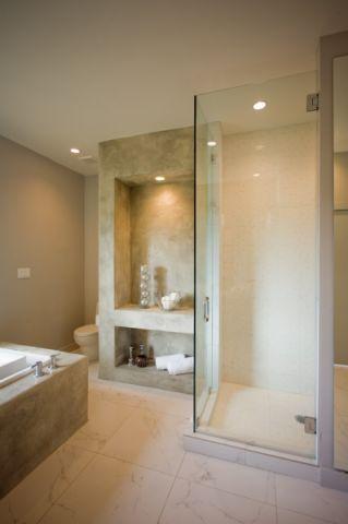 浴室隔断现代风格装饰设计图片
