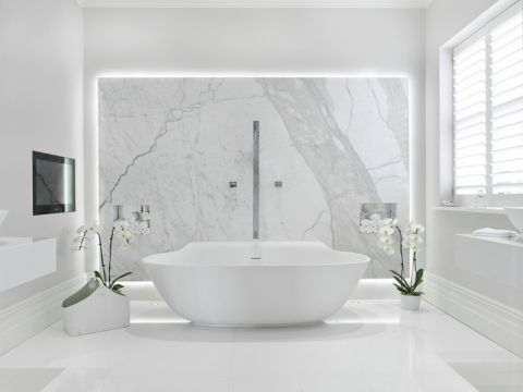 浴室现代风格效果图大全2017图片_土拨鼠简约唯美浴室现代风格装修设计效果图欣赏