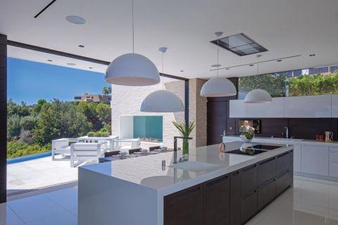 厨房现代风格效果图大全2017图片_土拨鼠美好质感吧台现代风格装修设计效果图欣赏