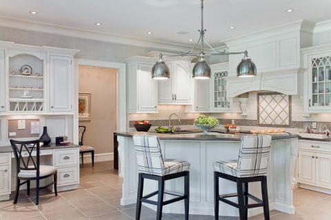 厨房美式风格效果图大全2017图片_土拨鼠温暖质朴厨房美式风格装修设计效果图欣赏