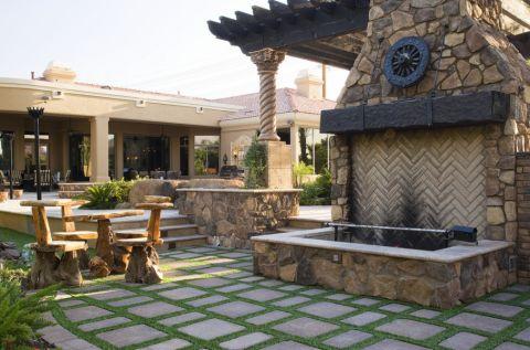 阳台地砖地中海风格装饰设计图片