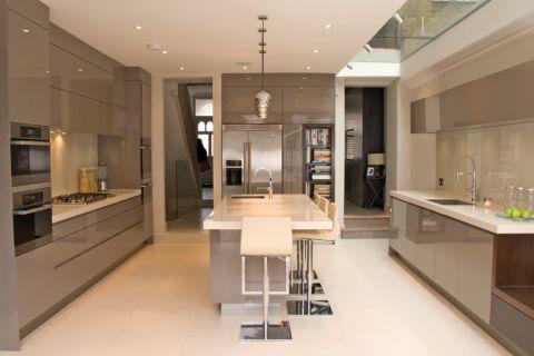 厨房现代风格效果图大全2017图片_土拨鼠现代迷人厨房现代风格装修设计效果图欣赏
