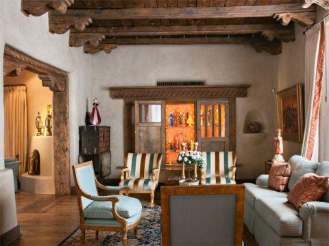 餐厅地中海风格效果图大全2017图片_土拨鼠豪华纯净餐厅地中海风格装修设计效果图欣赏